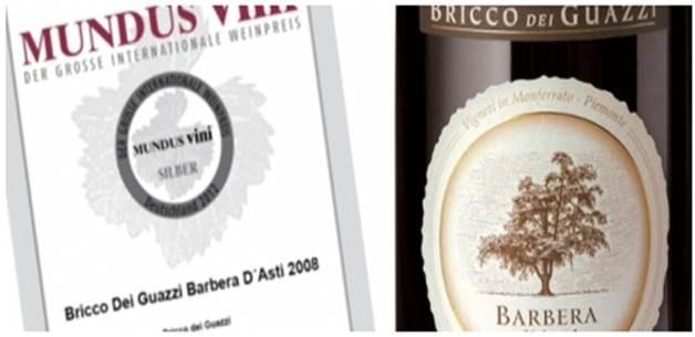 Medalla de plata por MUNDUS VINI para el Barbera d' Asti DOCG Bricco dei Guazzi !